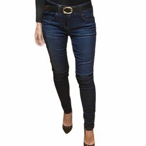 One 5 One Mid Rise Skinny Jeans, Dark Wash, Size 4
